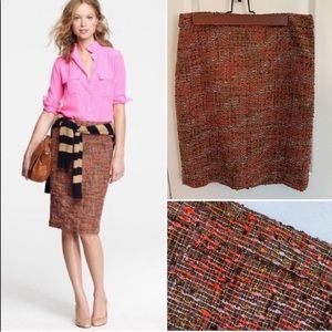 J. Crew The Pencil Skirt in Harvest Tweed
